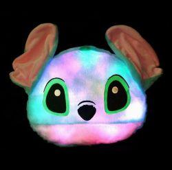 동물성 헤드는 LED 경음악 여행 베개를 형성했다