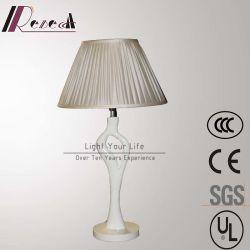 Resina blanca Mesilla de noche lámpara para proyecto hotelero