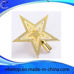 Estrela de metal decoração de árvore de Natal (TC-02)