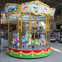 遊園地の子供は屋内屋外の Playground メリー- 移動 - 円形 6-8 人の小さい回転式遊べる