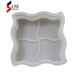 I lastricatori concreti del mattone che pavimentano il bordo della muffa lapida le muffe di plastica