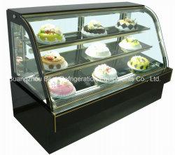 倍によって曲げられるガラスはセリウムが付いている表示ケーキのショーケースを冷やす