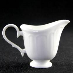 Bela louça de porcelana do cilindro de leite branco puro Jarra jarra de creme de cerâmica