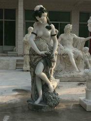 Вырезание из природного камня мраморные статуи Леди/скульптуры для украшения для установки вне помещений