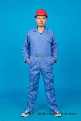 Werkende Kledingstuk van de Koker van de Veiligheid van de Polyester 35%Cotton van 65% het Lange met Weerspiegelend (BLY1023)