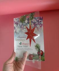 cartoline d'auguri di plastica di carta su ordinazione del regalo di stampa (scheda di festival)