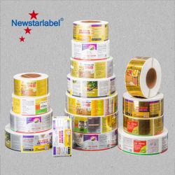 Logo personnalisé nombre de boissons en vinyle PVC Stickers PE BOPP papier autocollant Impression des étiquettes auto-adhésif