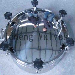 Dekking van Manway van het Mangat van de Tank van het roestvrij staal de Hygiënische Vierkante (jn-ML1001)