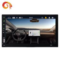 더블 DIN7인치 7019 HD 터치 스크린 차량용 무전기 플레이어 FM/BT/USB/TF/Aux Bluetooth 다중 언어 미러 링크 리모콘을 통한 자동 오디오 차량용 스테레오 비디오 플레이어