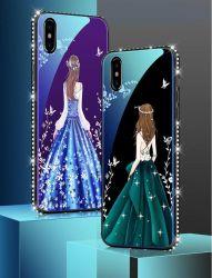 Coperchio di vetro chiaro blu di lusso del telefono di Temered