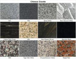 Pulido/Flameados Negro/Rojo/Blanco/azul/amarillo/verde/marrón/rosa G654/G603/G682/G602/Juparana/Bahama/Galaxy/encimera de granito para la absoluta/Pavimentación/pared/pisos