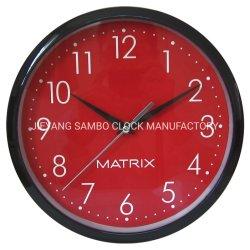 Cadeau personnalisé de promotion de l'horloge en plastique de 10 pouces