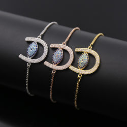 Sterlingsilber-oder des Messing-Teufels Augen-Armband-Plättchen-Kettenarmband-Türkis der Form-Schmucksache-925 und Kallaite Armband