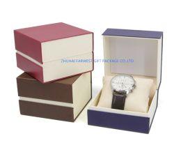 Kleine Geschenkbox Uhr Verpackung Box Buch Form Magnet Verschluss Boxpillow Schaum Innen