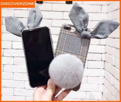 Английском стиле заяц уши мобильный телефон с мягкими шаровой шарнир кронштейна для девочек