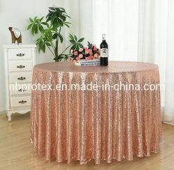 Wedding Banquetのための新しいSequin Embroidery Table Cover Tablecloth
