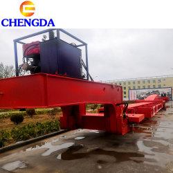 3 60 tonnes d'essieu moulin à vent vent extensible Transport Remorque de lame
