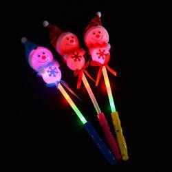 Weihnachten LED beleuchten haftet oben Schneemann-blinkende Stab-leuchtende Spielwaren