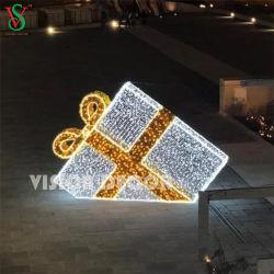 Giant 3D decorativos LED grande piscina presente de Natal Box Luzes Motif