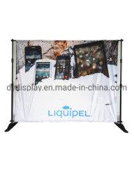 Ökonomischer einziehbarer teleskopischer Pole-Fahnen-Standplatz-Foto-Hintergrund