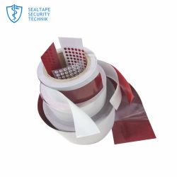 Étiquette blanche devient rouge lorsque de répondre à l'eau Indicateur de dégâts des autocollants de sécurité pour les téléphones mobiles