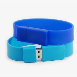 Bracelet personnalisé d'entraînement de la mémoire flash USB Bracelet en silicone U de disque
