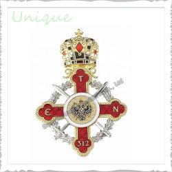 Cristal de moda personalizada Emblema de artesanato de metal decorativa crachá de ouro do pino de lapela dons para Carnaval