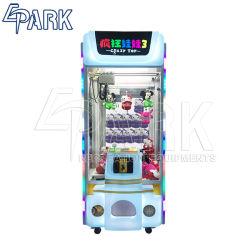 لعبة الرافعة لعبة البلش التي تعمل بقطع النقود المعدنية آلة مجنون لعبة 3 وثير Doll Crane آلة بيع لعبة آلة بيع