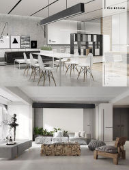 LED moderne pendaison Poignée de commande de lumière linéaire/LED lumière/Lampe suspendue pour la maison/Office 35*70mm