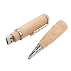 Il USB di legno attacca il disco di legno della penna U del regalo promozionale della penna