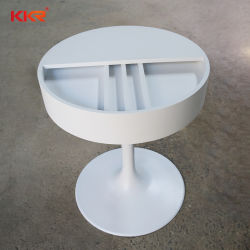 レストランのためのKkrの白い大理石によって使用される表そして椅子