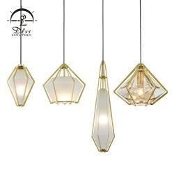 Nueva moda de la lámpara colgante de cristal forma de rombo