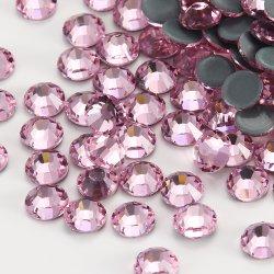 Kingswick 2028 же разрез перед лицом Custom розового цвета теплообмена горячей Fix Rhinestone использованием стекла для линии бикини украшения