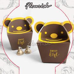 Sweet adorável ostentar em forma de desenhos animados de chocolate de qualidade alimentar/ Bolacha/ Cookie Dom Caixa de papel de embalagem