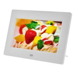 7 pouces LCD noir et blanc photo numérique Cadre photo avec capteur de mouvement