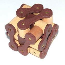 أطفال خشبيّة ذكاء مخّ [تيسر] لعبة 3D سلسلة قفل لغز لعب لأطفال بالغ
