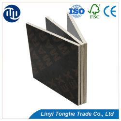 China Fabrico 4*8 Pé de folhas de compensado de madeira contraplacada conjunta do dedo preta para uso do prédio