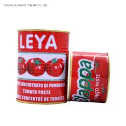Usine de pâte de tomate, la pâte de tomate en conserve 210g, facile d'ouvrir, la pâte de tomate, sauce tomate de la machine
