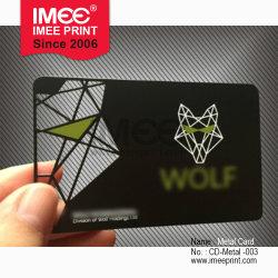 Patrón de diseño personalizado Imee mayorista de impresión en color metal Namecard PVC Papel empresarial Tarjeta de visita