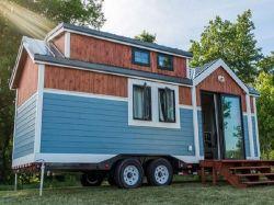 Luz Prefa coloridos moderna estrutura de aço Pequena Casa Viajando House