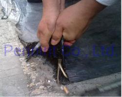 교차 라미네이트 HDPE 필름으로 덮인 자체 부착식 비투멘 멤브레인