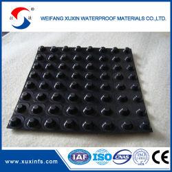 Drenaje de plástico perforado hoja con el mejor precio materiales impermeabilizantes