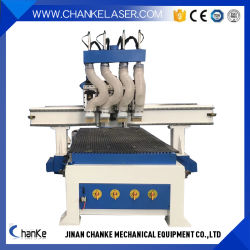 Professional 4 Fuso Independente 3D Madeira Metal Gravura de corte para trabalhar madeira Máquinas CNC para porta de madeira