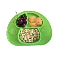 Sans BPA Mushroon façonné une bonne adhérence avec les enfants d'aspiration de la silicone Récapitulatif de fonctionnement