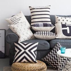 Постельное белье из хлопка черного геометрической подушки сиденья дома диван наволочку оптовая торговля