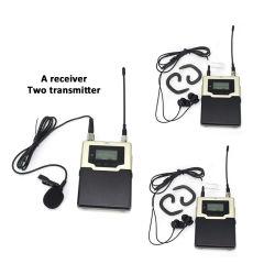 1つの受信機2の送信機が付いている耳MoniterのSinbosen CF-01 UHFの専門の無線サウンド・システム