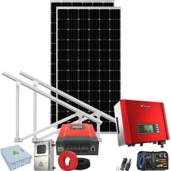 국가 격자에 의하여 연결되는 잡종 태양풍 발전기 600W