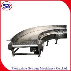 Transportador de correia de placas de transporte de rotação resistente a ácidos Alkali para metalurgia