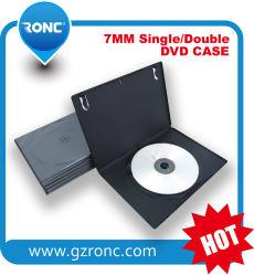 DVD de bonne qualité le couvercle en plastique de 9 mm boîte DVD simple/double faces