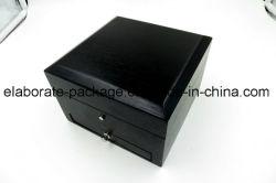 Het modieuze Zwarte Houten Geval van /Storage van de Doos van het Horloge/van de Armband/van Juwelen met Uw Embleem